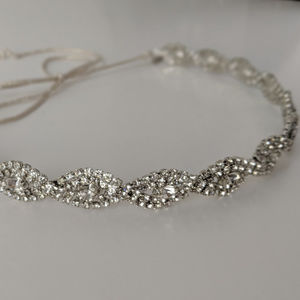 Jennifer Behr Overlapping Crystal Twist Headband